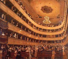 Gustav Klimt (1862-1918)  Auditorium in the Old Burgtheater, Vienna  Gouache  1888