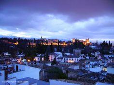 La Alhambra y el Albaicín de noche