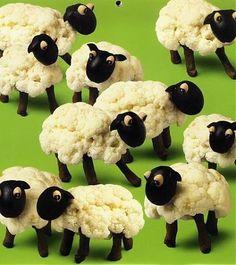 easter lambs of cauliflower. For reals. More danish goodness. Påske#lam af blomkål