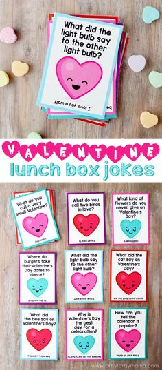 Free Printable Valentine Lunch Box Jokes at artsyfartsymama.com