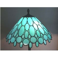 This stained glass teal lamp shade is 10 inches tall with a diameter of 19 inches. It is made with Armstrong country blue glass. Stained Glass Lamp Shades, Faux Stained Glass, Stained Glass Designs, Stained Glass Projects, Stained Glass Patterns, Stained Glass Chandelier, Teal Lamp Shade, Best Desk Lamp, Rustic Lamp Shades