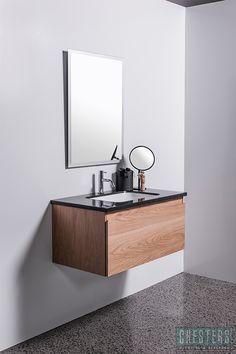Michel Cesar Tablo Vanity - black stone slab insert basin
