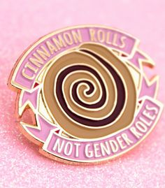 NEW! Enamel Pins at Zealo Apparel! That's right! We now do enamel pins! Starting with a feminist pin (of course), a badge version of our popular Cinnamon Rolls Not Gender Roles T-Shirt. Now you can fight for the end of gender roles and show your love for tasty, cinnamon treats with every outfit! They're in stock now, get them here: https://zealoapparel.com/collections/feminism/products/cinnamon-rolls-not-gender-roles-enamel-pin