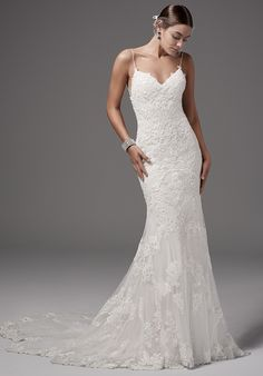 Chic Fit-And-Flare Wedding Dress | Style 'Bristol' by Maggie Sottero | http://trib.al/f6j0sFt