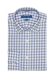Vince Camuto WhiteInk Windowpane Slim-Fit Windowpayne Dress Shirt