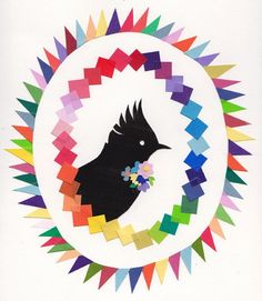 Bird Collage - Beci Orpin..maybe make with my paint chips