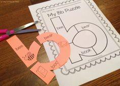 Free Sample 'b' -  Alphabet Letter Puzzles