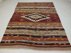 Real Turkish Kilim Rugs and Pillows from KilimRugAvenue. Rugs On Carpet, Carpets, Turkish Kilim Rugs, Bohemian Rug, Hand Weaving, Pillows, Vintage, Handmade Gifts, Free Shipping