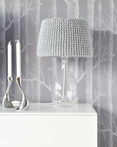 Knitted grey lampshade... I just love!