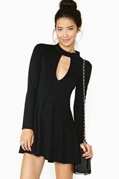 Sexy Black Long Sleeve Cut Out Skater Dress Dress Skirt, Dress Up, Anna Dress, Sexy Dresses, Casual Dresses, Cut Out Skater Dress, Black Long Sleeve Dress, Dress Black, Keyhole Dress