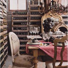 Forget the wall to wall bookshelf. I'll take a wall to wall wine rack.