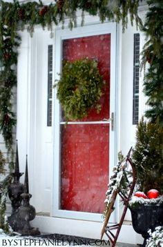 simple front door w/sled