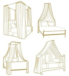 DIY Bed canopy, I'm going to make the bottom right one
