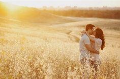 This engagement session by This Modern Romance is the stuff dreams are made of. I love the lighting, the couple, the dress and the simplicity of the shots that really show the love of this couple. The golden field and the sun setting just right…sigh, perfection. Enjoy! Images by This ...