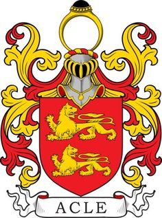 Acle Family Crest and Coat of Arms