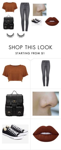 """""""Untitled #13"""" by shortiiiee on Polyvore featuring Paige Denim, Sole Society, Converse and Lime Crime"""