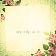 Download - Vintage vignette with the form of paper and flower corners, lemo — Stock Image #128942138