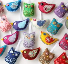 Items similar to Wholesale Lot Set of 16 Eco Felt Owl and Bird Ornaments Party Favors Eco Friendly on Etsy Felt Crafts, Fabric Crafts, Sewing Crafts, Diy Crafts, Felt Owls, Felt Birds, Felt Christmas, Christmas Crafts, Christmas Ornaments