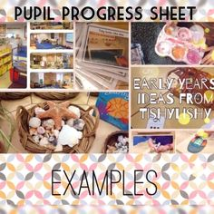 Example of a Pupil Progress sheet completed at the end of each term.