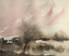 #284, aquarelle, 1989, 5,75'' x 4,5'', 35$, encadré Paradis, Abstract, Artwork, Painting, Watercolor Paintings, Summary, Work Of Art, Painting Art, Paintings