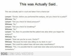 Witness Trolls Lawyer