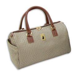 Amazon.com: London Fog Luggage Chelsea 16 Inch Satchel Tote, Olive Plaid, One Size: Clothing