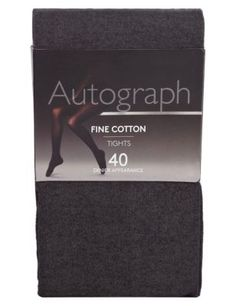 Marks & Spencer 40 den black cotton tights