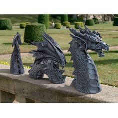 Dragon of Falkenberg Castle Moat Lawn Sculpture Yard Art Statue Design Toscano Dragon Garden, Dragons, Gothic Garden, Dragon Statue, Dragon Art, Dragon Shield, Sea Dragon, Fantasy Dragon, Dragon Crafts