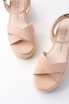 Zala Dark Nude Suede Espadrille Flatform Sandals 4