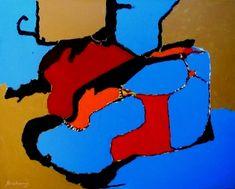 Abstract Painting Philisophical Spiritual Barzakh  Artist: Abrahams, Robert N  Artwork title: Barzakh  Price: $300