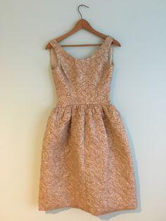 TLC 1960s Gold Brocade Cocktail Dress XS
