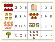 Math Center Activity for Fall