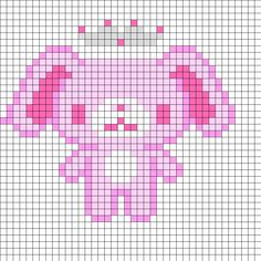 Pink Sugarbunny BALLETUSA Perler Bead Pattern | Bead Sprites | Characters Fuse Bead Patterns