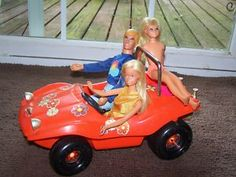 Barbie Dune Buggy.  As I remember, it came with a sheet of decals so that you could customize it any way you wanted.