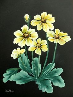 One stroke yellow flowers. Hazel Lynn.
