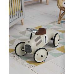 Porteur voiture en métal blanc crème L 76 cm VINTAGE   Maisons du Monde