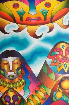Son pinturas del excelente Mamani Mamani de Bolivia. lunas - Buscar con Google