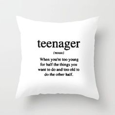teen throw pillow More. teen throw pillow More. Teen Quotes, Cute Quotes, Funny Quotes, Humor Quotes, Qoutes, Funny Relatable Memes, Funny Texts, Cute Pillows, Throw Pillows