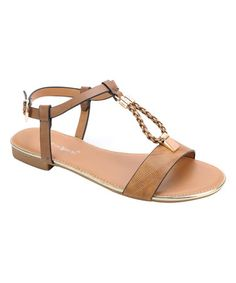 Another great find on #zulily! Tan Carson Braided-Strap Sandal #zulilyfinds