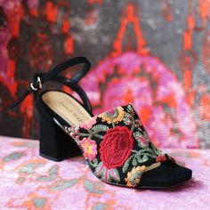 Floral embroidery is a must. Spring on, one step at a time.