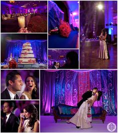 a beautiful & extravagant desi wedding - purple & pink color