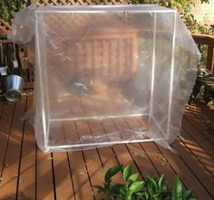 easy pop up greenhouse made of pvc and plastic. Love this idea, great way to recycle and reuse!