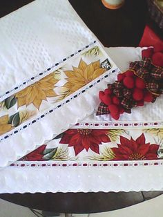 pintura em toalha de rosto motivo natal