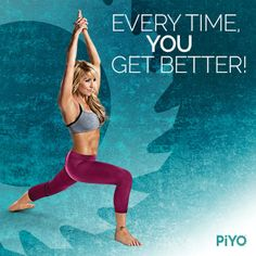 The great thing about PiYo Workout is that every time you do it, you get BETTER, LEANER, AND STRONGER! You'll get more flexible, have more strength and surprise even yourself!