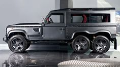 This 6x6 Land Rover Defender Eats Your Average SUV For Breakfast. Mean machine.