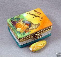 Limoges Box Happy Thanksgiving Book w Corn.