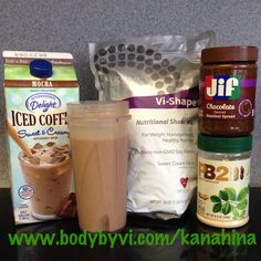 I just did this with just the low cal iced coffee and vi shake mix 190 calories…