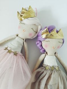 Diy crafts sewing needlecraft princess rag dolls plush queen ballerina stuffed toy sleeping beauty.