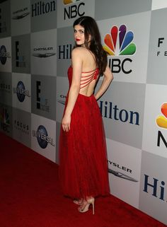 ALEXANDRA DADDARIO at NBC Golden Globes Party in Beverly Hills