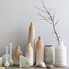 Wooden Ombre Vases